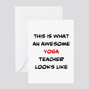 awesome yoga teacher Greeting Card