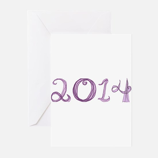 2014 fabric font Greeting Cards