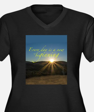 Everyday is a New Beginning Plus Size T-Shirt