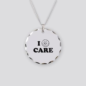 I Donut Care Necklace Circle Charm