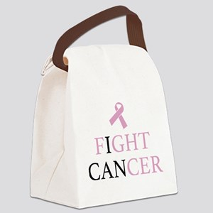 Fight Cancer Canvas Lunch Bag
