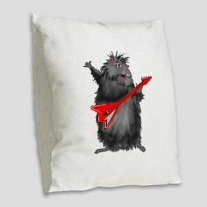 Black Betty Burlap Throw Pillow
