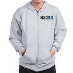 spcaLA logo, color Zip Hoodie