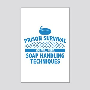 Prison Survival Mini Poster Print