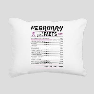 February Girl Facts Aquarius Rectangular Canvas Pi