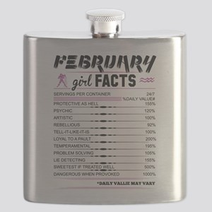 February Girl Facts Aquarius Flask