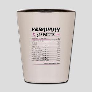 February Girl Facts Aquarius Shot Glass