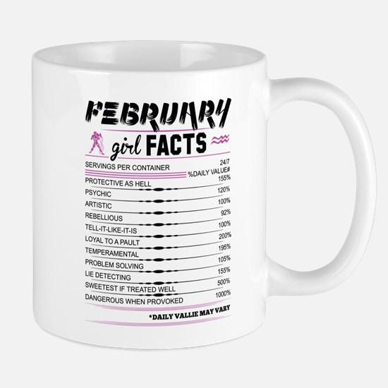 February Girl Facts Aquarius Mugs