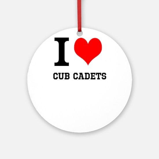 I Heart Cub Cadets Ornament (Round)
