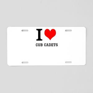 I Heart Cub Cadets Aluminum License Plate