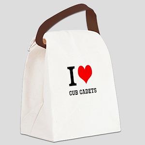 I Heart Cub Cadets Canvas Lunch Bag