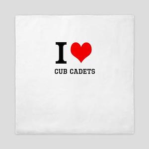 I Heart Cub Cadets Queen Duvet