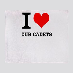 I Heart Cub Cadets Throw Blanket