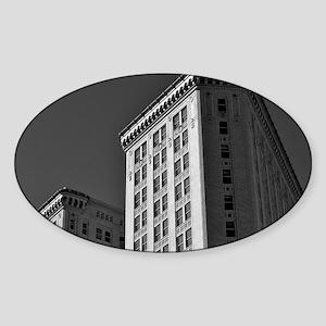 Hurt Building Atlanta Sticker (Oval)