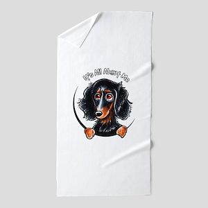 Dachshund Longhair B/T IAAM Beach Towel