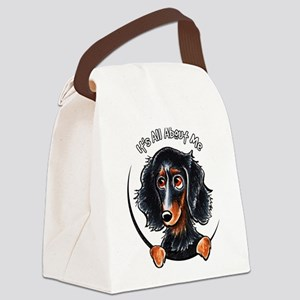 Dachshund Longhair B/T IAAM Canvas Lunch Bag