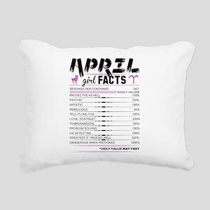 April Girl Facts Aries Rectangular Canvas Pillow