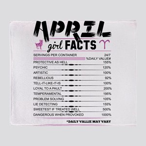 April Girl Facts Aries Throw Blanket