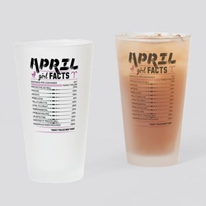 April Girl Facts Aries Drinking Glass
