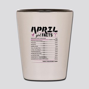 April Girl Facts Aries Shot Glass