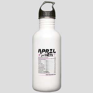 April Girl Facts Aries Water Bottle