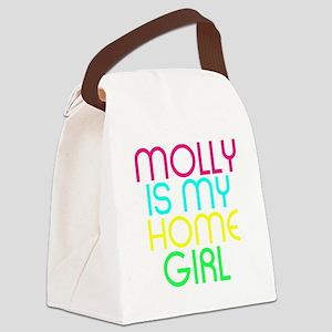 MOLLY IS MY HOMEGIRL Canvas Lunch Bag