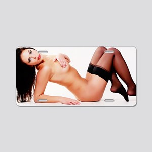Nude Pinup Girl Aluminum License Plate