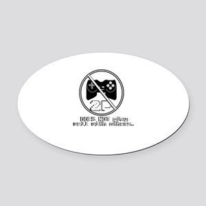 Does NOT play well with others Oval Car Magnet