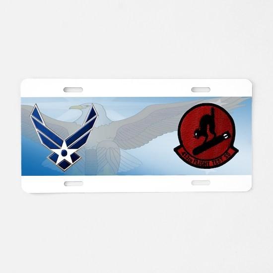 413th Test Squadron Aluminum License Plate