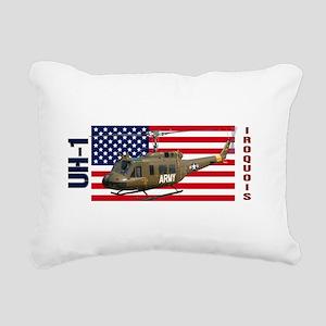 UH-1 Iroquois Rectangular Canvas Pillow