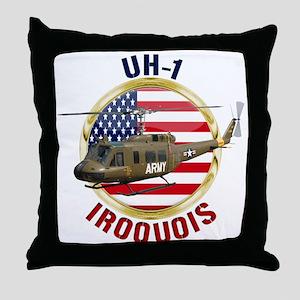 UH-1 Iroquois Throw Pillow