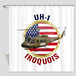 UH-1 Iroquois Shower Curtain