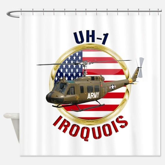 UH-1 Iroquois Shower Curtain