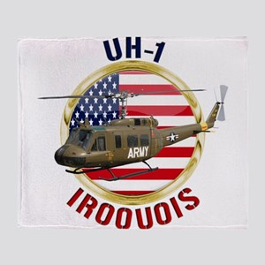 UH-1 Iroquois Throw Blanket