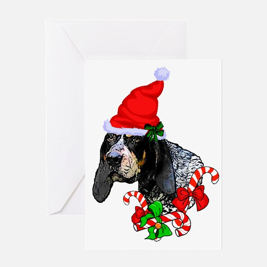 Cute Bluetick coonhounds Greeting Card