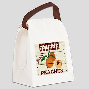GEORGIA Fresh PEACHES Canvas Lunch Bag