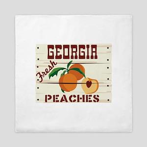 GEORGIA Fresh PEACHES Queen Duvet