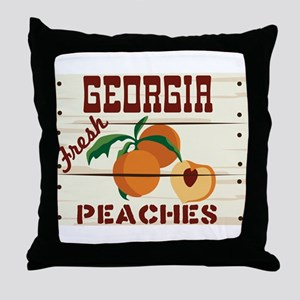 GEORGIA Fresh PEACHES Throw Pillow