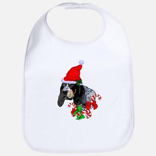 Bluetick Coonhound Christmas Baby Bib
