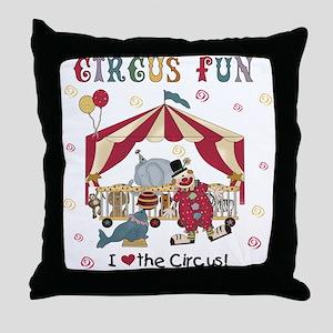 Circus Fun Throw Pillow