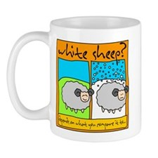 white sheep - Mug