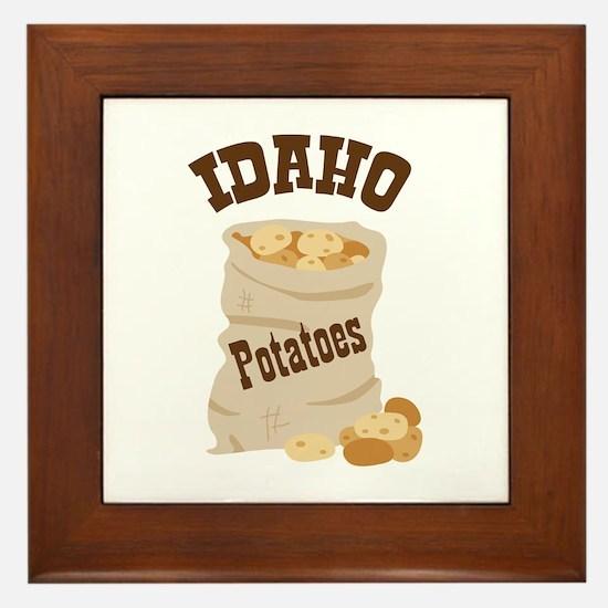 IDAHO Potatoes Framed Tile