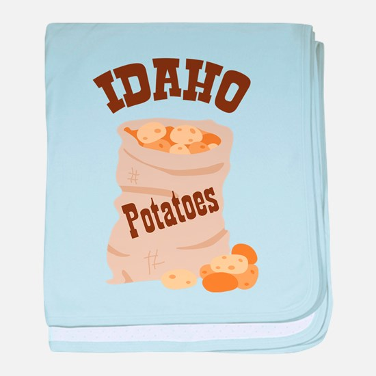 IDAHO Potatoes baby blanket
