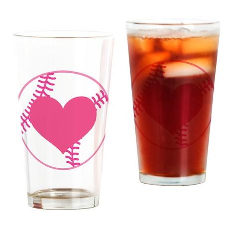 Softball Lover Drinking Glass