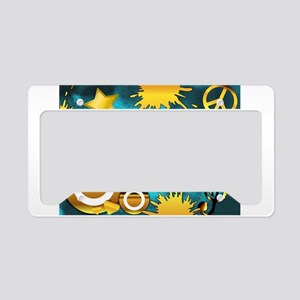 Peace, Love, Music License Plate Holder