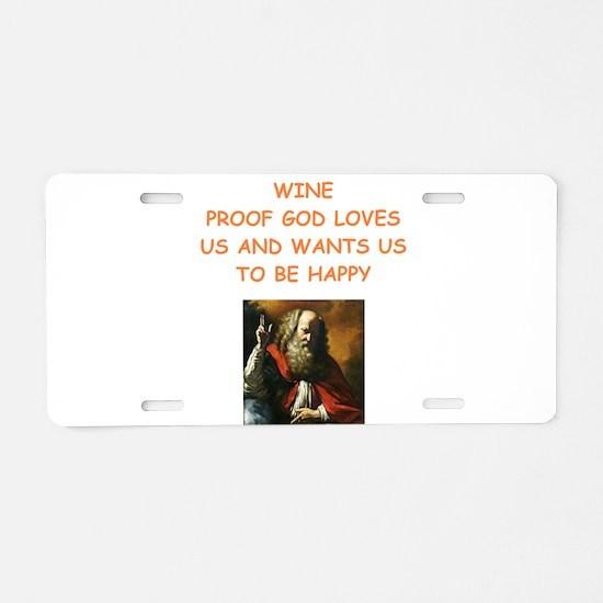 wine Aluminum License Plate