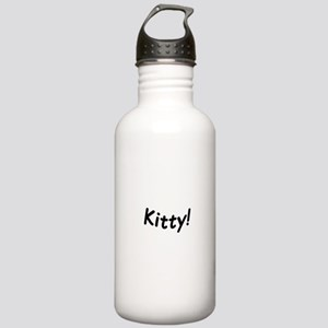 crazy kitty Water Bottle