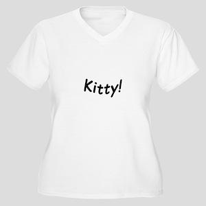 crazy kitty Plus Size T-Shirt