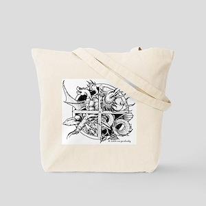 Four Dragons Tote Bag