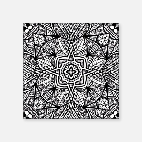 """Aztec Patterned Star Square Sticker 3"""" x 3"""""""